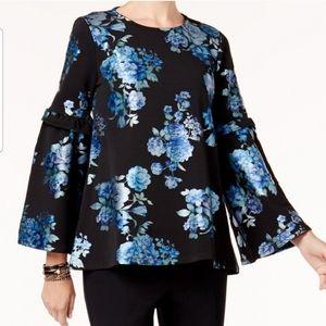 Alfani floral print top